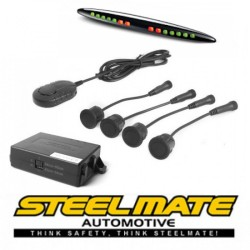 Parkavimo sistema Steelmate PTS411EX galui arba priekiui (universalus), 12-24V su M21 ekranu
