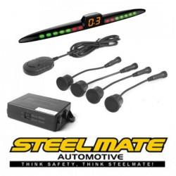 Parkavimo sistema Steelmate PTS411EX galui arba priekiui (universalus), 12-24V su M23 ekranu