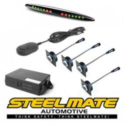 Parkavimo sistema Steelmate PTS411EX_ISR galui arba priekiui (universalus), 12-24V su M21 ekranu