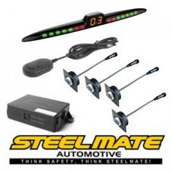 Parkavimo sistema Steelmate PTS411EX_ISR galui arba priekiui (universalus), 12-24V su M23 ekranu